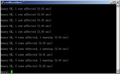 centos 下 使用命令导入mysql数据库