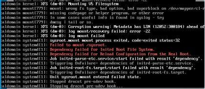 centos7无法启动Centos Failed to mount /sysroot
