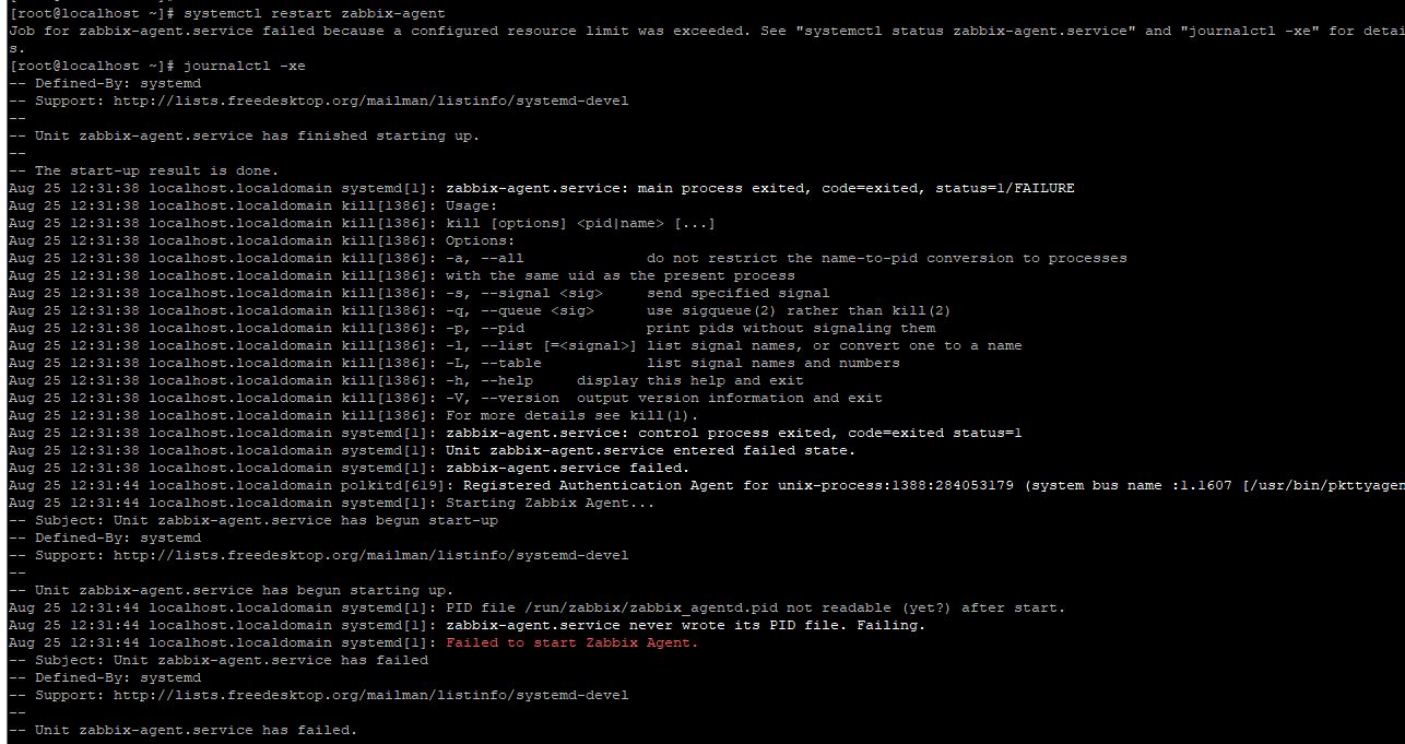Zabbix 使用途中无法使用